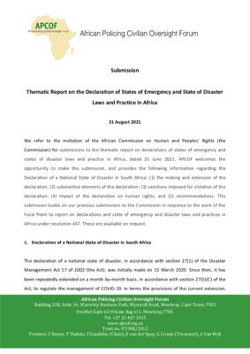 thumbnail of apcof-submission-447-report-69th-ordinary-session