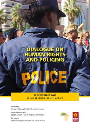apcofdialogueonhumanrightsandpolicing-12september2019johannesburg
