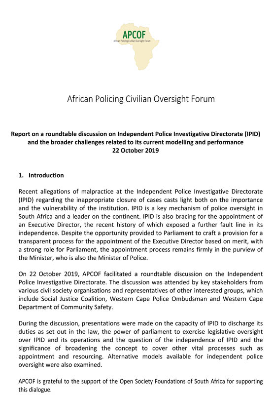 Microsoft Word – APCOF IPID Round Table Report – 22 October 2019